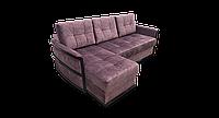 Угловой коричневый диван Тина 1 фабрики Нота с оттоманкой, фото 1