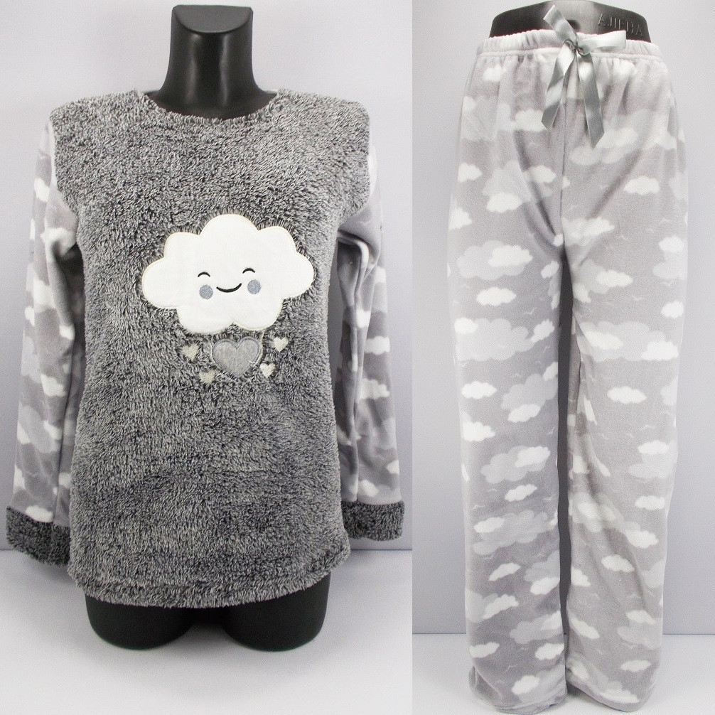 Пижама женская флис и мех 1673 размер S