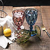 """Зелёный бокал для вина """"Изумруд"""" 320мл Толстое Цветное стекло Хрустальный, фото 5"""