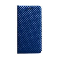 Чохол-книжка Carbon for Xiaomi Redmi Note 9 Синій, фото 1