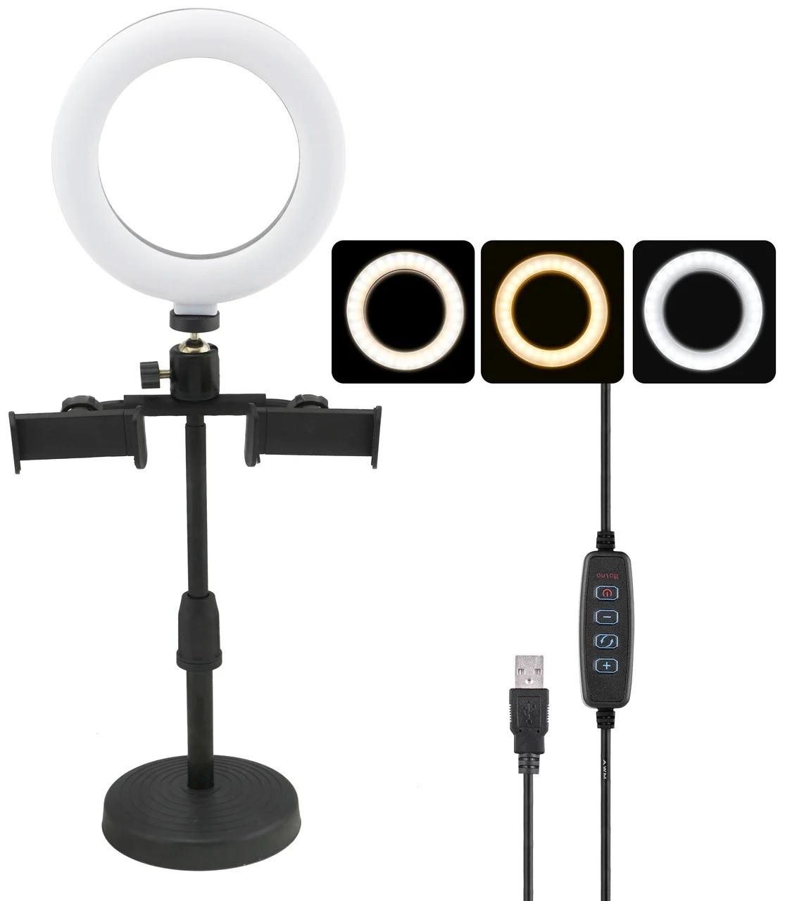 Кольцевая лампа светодиодная 16 см CBX-160A