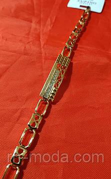 Стильный браслет с сердечками кристаллами. Женские украшения на руку с позолотой Xuping оптом. 39
