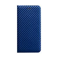 Чехол - книжка для телефона Carbon for Samsung A01 / M01 синий, ткань/пластик/силикон, чехол Carbon, фото 1
