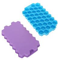 "Форма силиконовая для льда Stenson ""Соты"" размер 20х12х2см, разные цвета, форма под лед, формочка для льда"