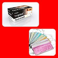 """Медичні трьохшарові маски """"Begreat"""" Fiomex, рожеві 50шт./уп."""