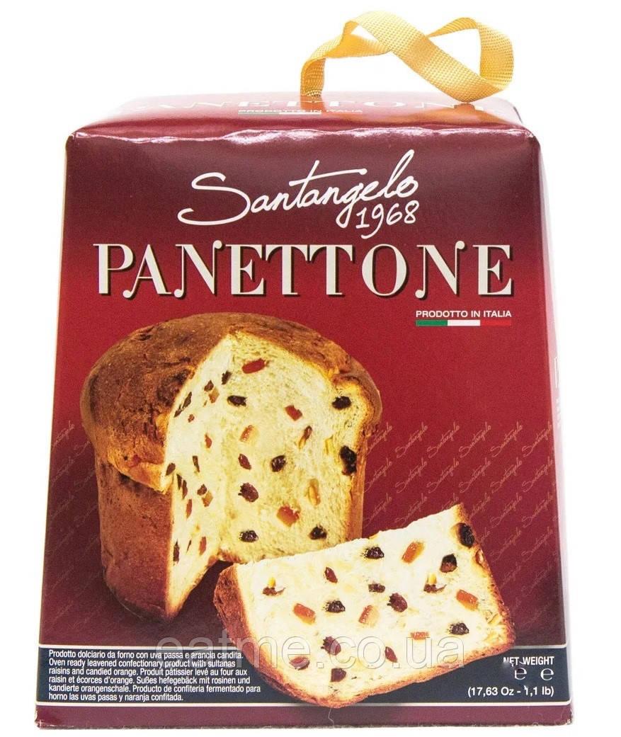 Панеттоне Santangel классический с изюмом и цукатами 908g