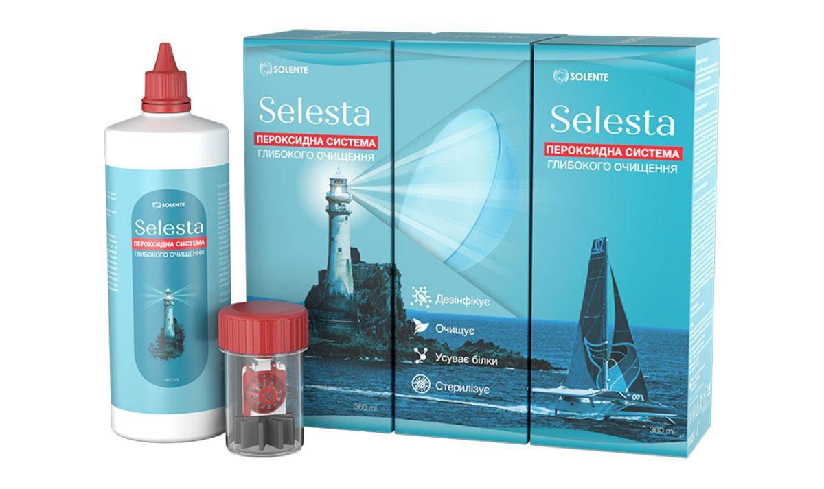 Раствор для контактных линз Solente SELESTA 360 mll