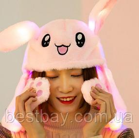 Шапка заяц со светящимися двигающимися ушками, фото 2