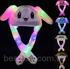 Шапка заяц со светящимися двигающимися ушками, фото 3