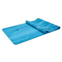 Коврик для фитнеса и йоги Резиновый размер 1,83мx0,68мx4мм, цвета в ассортименте