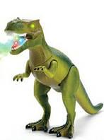 Динозавр интерактивный на р/у ходит, светится, рычит, пускает пар, зеленый, 8909, фото 1