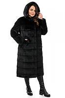 Женская черная шуба,шиншилла 100% под натуральную 42-44, 48-50,52-54,56-58,60-62, фото 1