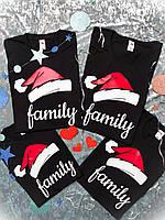 Новогодние футболки для всей семьи Family