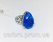 Колечко с голубым цирконом серебро Агата