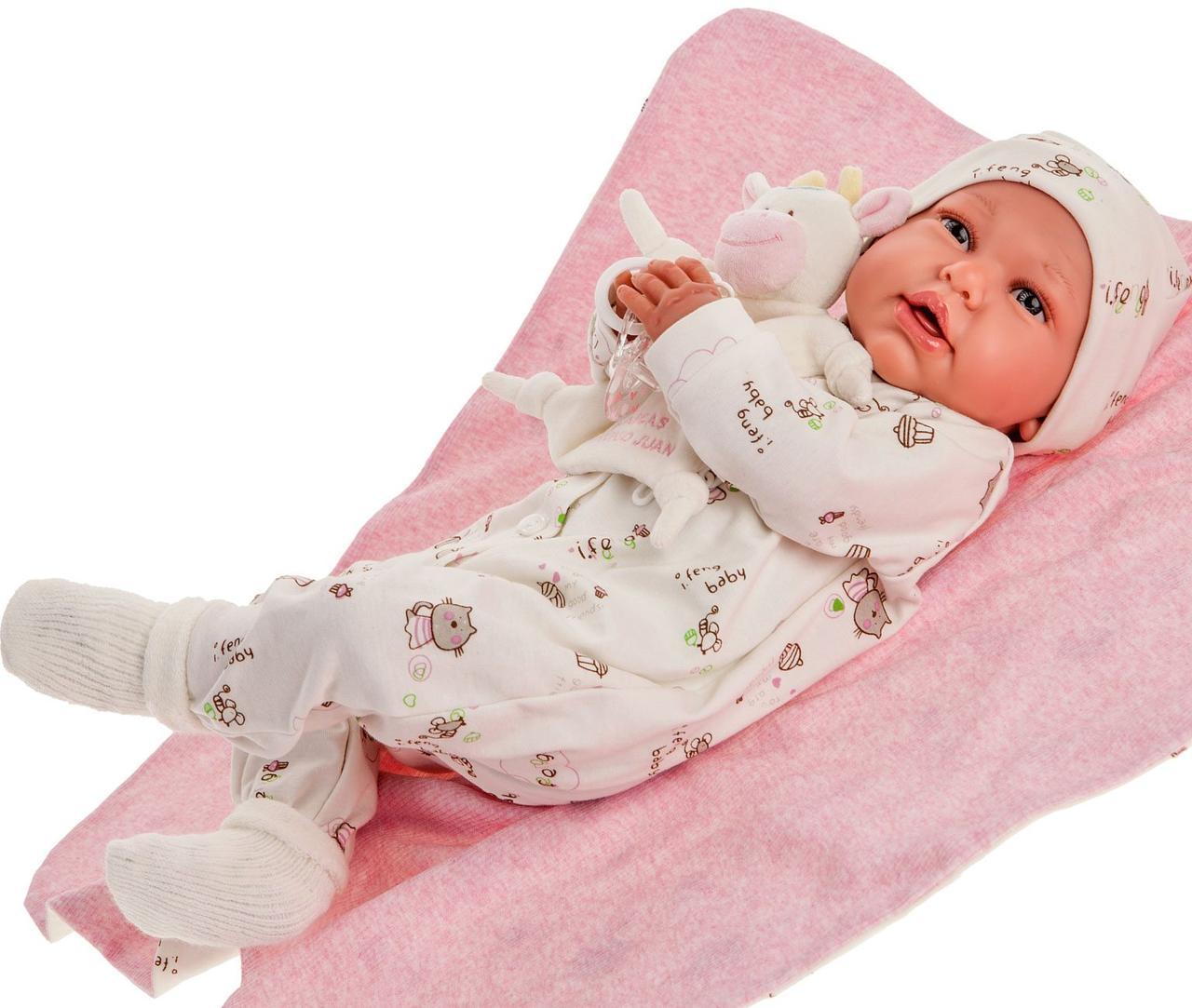 Лялька немовля Mi Primer Reborn Даніела Juan Antonio 52 см 8163