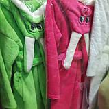 Яркий махровый детский халат Зайчик, фото 3