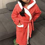 Яркий махровый детский халат Зайчик, фото 2