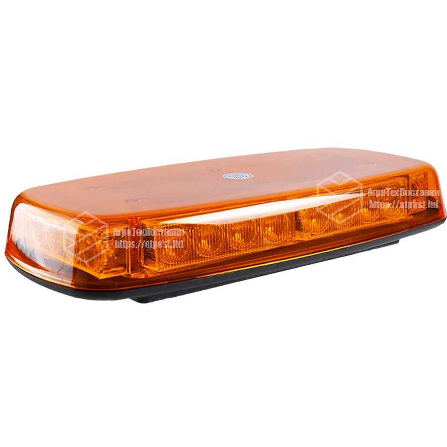 Маяк LED проблесковый 12В/24В; (30.5х16.26х6.1см); 3,5 метра кабеля; магниты;  15 вариантов янтарной вспышки