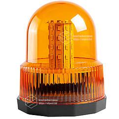 Маячок LED проблесковый 12В/24В, 40 LED диодов, магнит