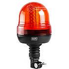 Маячок LED проблесковый 12В/24В, (127мм х 240мм), 60 LED диодов, крепление на штырь, фото 2