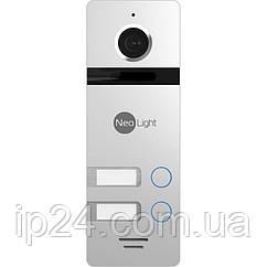 Видеопанель NeoLight MEGA/4 FHD Silver для 4 абонентов
