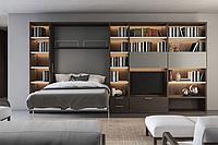 Шкаф-кровать подъемная с фотопечатью для гостиной, фото 1