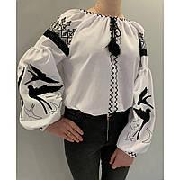 """Жіноча вишита блузка """"Нічна ластівка"""", фото 1"""