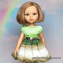 Платье Сахарный пряник с рукавом фонарик для кукол Паола Рейна