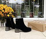 Зимние ботинки Corso Como натуральная замша шерсть 38, фото 3