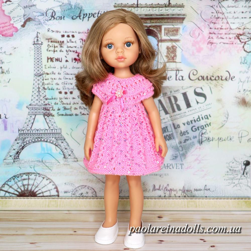 """Платье """"Розовый бутон"""" с паетками для кукол Паола Рейна"""