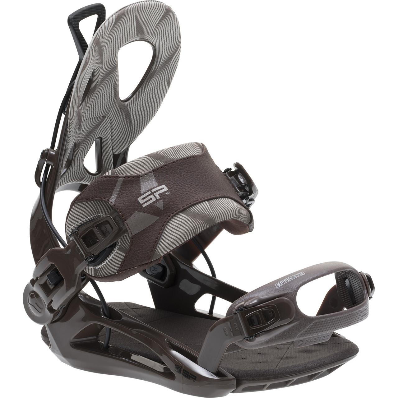 Стабильные легкие крепления для сноуборда SP fastec Private brown