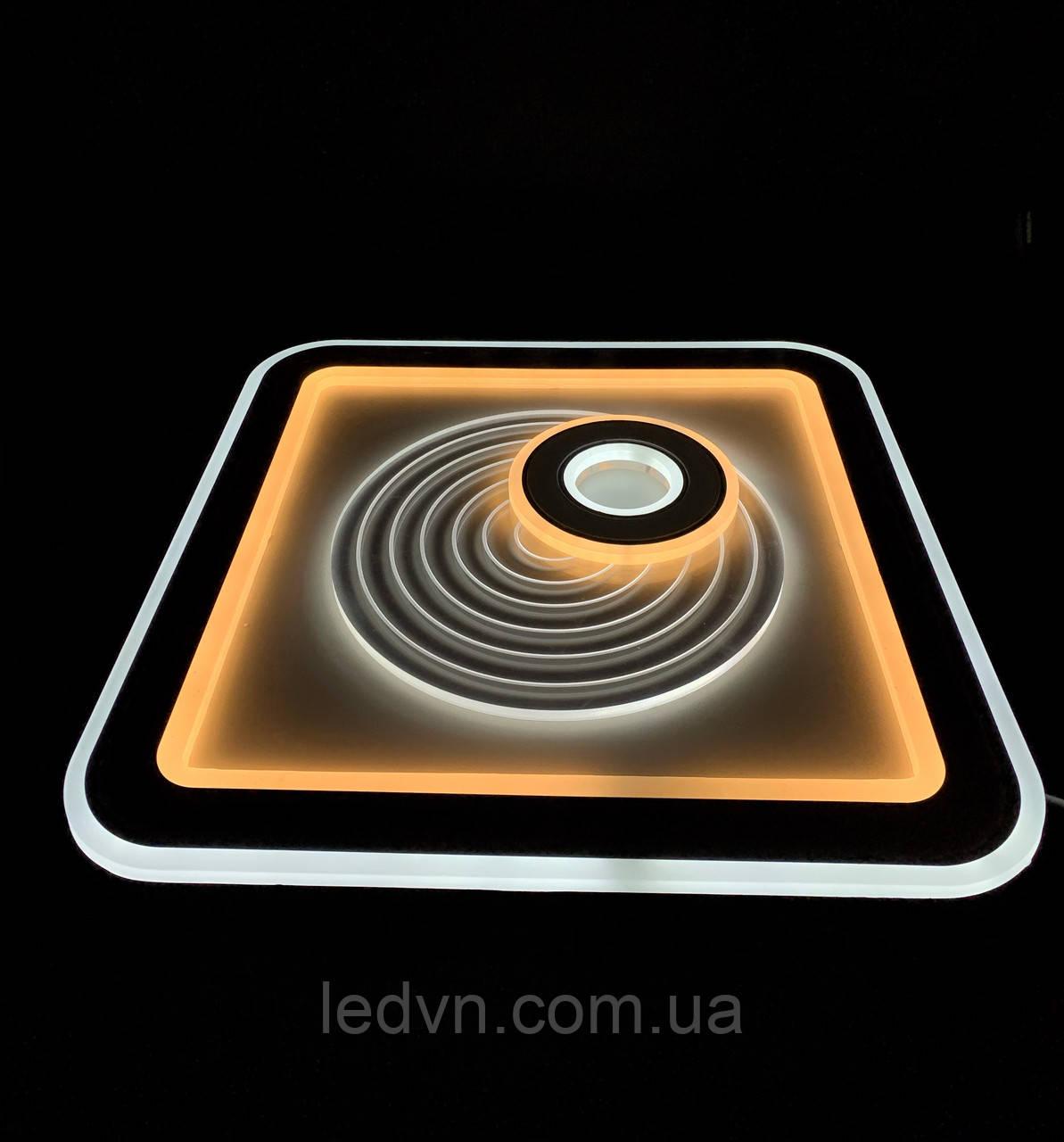 Светодиодный потолочный светильник квадрат 115 ватт