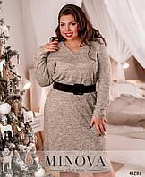 Повседневное платье полуприлегающего силуэта из ангоры  с 46 по 64 размер, фото 1