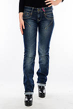 Женские джинсы OMAT 9590 темно-синие