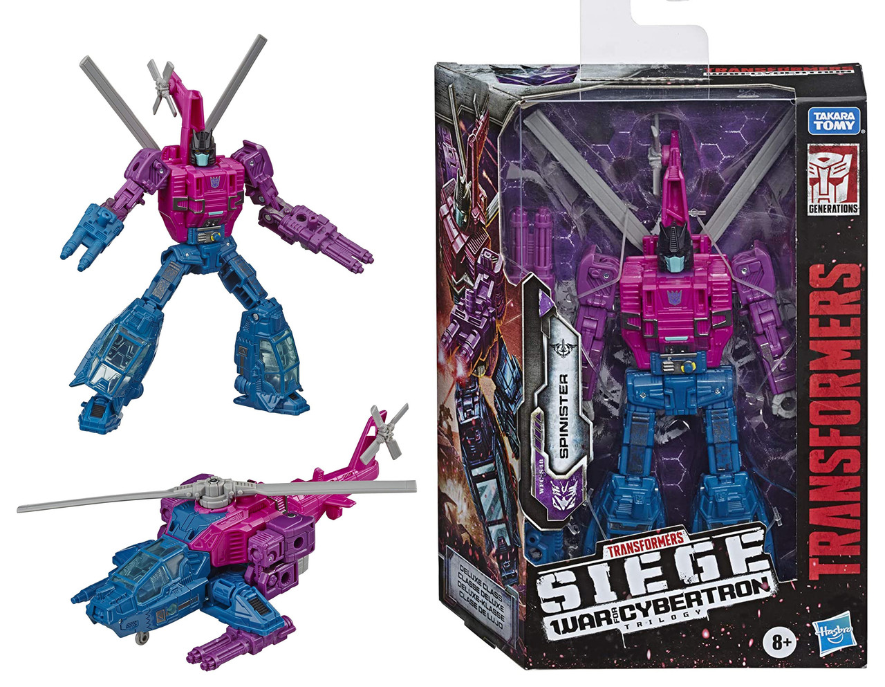 Фигурка Трансформер Спинистер Spinister Оригинал Transformers Generations War for Cybertron Deluxe Wfc-S48