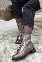 Ботинки женские зимние 8 пар в ящике серебристого цвета 36-41, фото 2