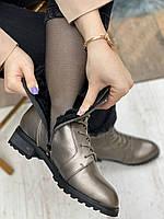Ботинки женские зимние 8 пар в ящике серебристого цвета 36-41, фото 5