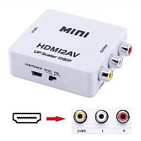 Адаптер конвертер HDMI to AV RCA тюльпан перехідник конвертер HDMI2AV