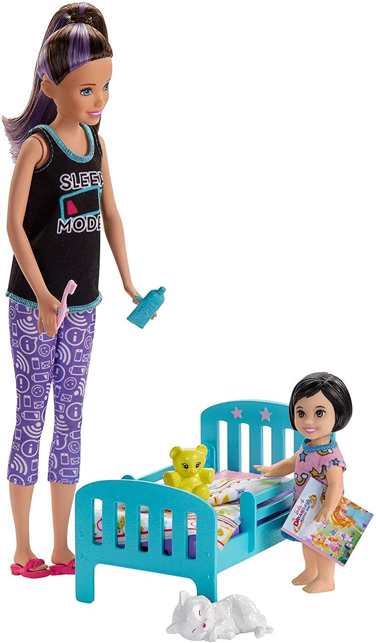 Кукла Барби Скиппер няня из серии Спокойной ночи Оригинал Barbie Skipper Babysitters (GHV88) (887961803563)
