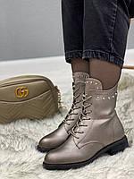 Ботинки женские зимние 8 пар в ящике серебристого цвета 36-41, фото 3
