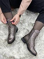 Ботинки женские зимние 8 пар в ящике серебристого цвета 36-41, фото 4