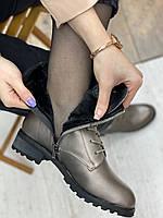 Ботинки женские зимние 8 пар в ящике серебристого цвета 36-41, фото 7