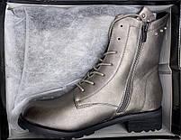 Ботинки женские зимние 8 пар в ящике серебристого цвета 36-41, фото 8
