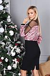 Платье женское с пайеткой на Новый год золото, розовый 42-44,46-48, фото 2