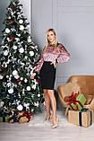 Платье женское с пайеткой на Новый год золото, розовый 42-44,46-48, фото 5
