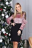 Платье женское с пайеткой на Новый год золото, розовый 42-44,46-48, фото 4