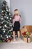 Платье женское с пайеткой на Новый год золото, розовый 42-44,46-48, фото 7