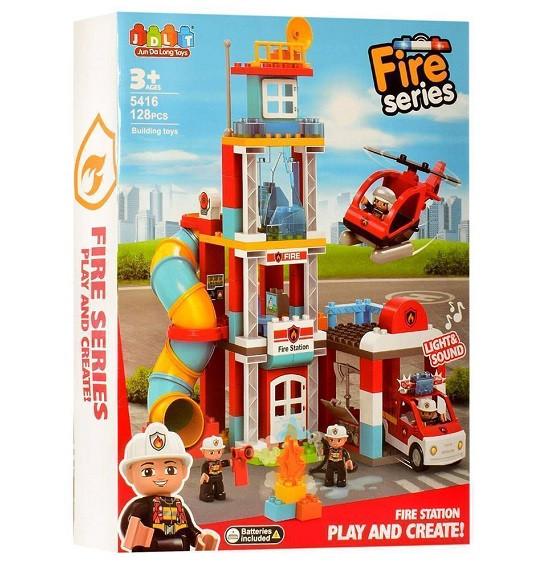 Конструктор JDLT 5416 Пожарная станция 128 деталей