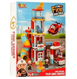 Конструктор JDLT 5416 Пожежна станція 128 деталей