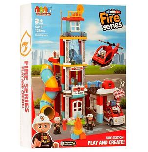 Конструктор JDLT 5416 Пожарная станция 128 деталей, фото 2